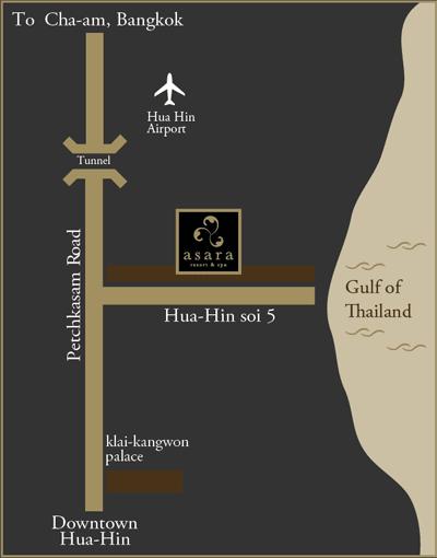 แผนที่ อัสสรา วิลล่า แอนด์ สวีท หัวหิน