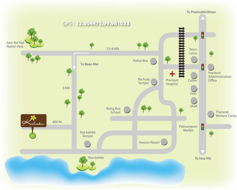 แผนที่ กาลาโมน่า บูติก รีสอร์ท
